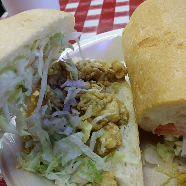 Oyster po-boy for breakfast - why not?