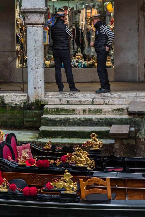 Gondolieri in Venice