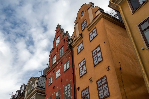 Colourful Stockholm houses