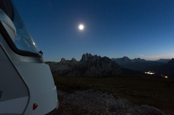 Moon over the Dolomites
