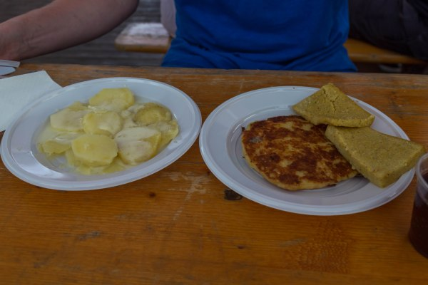 Tasting local food in Lateis