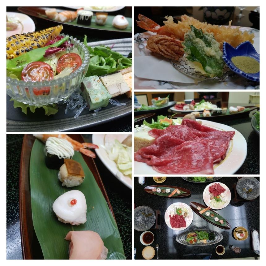 Japanese kaiseki dinner