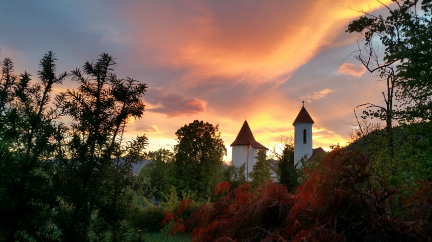 Kranj at sunset