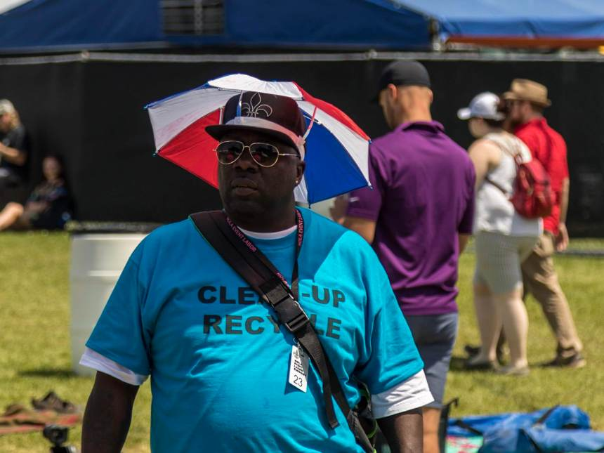 Funny hat at New Orleans Jazz Fest