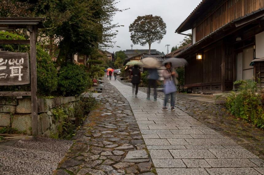 Magome in rain