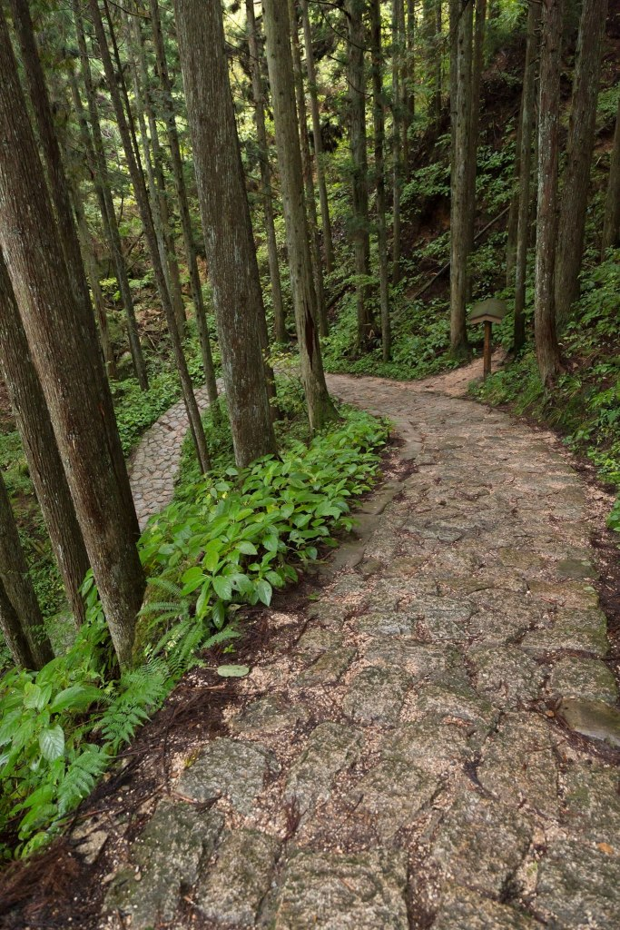 Paved path on the Nakasendo Trail