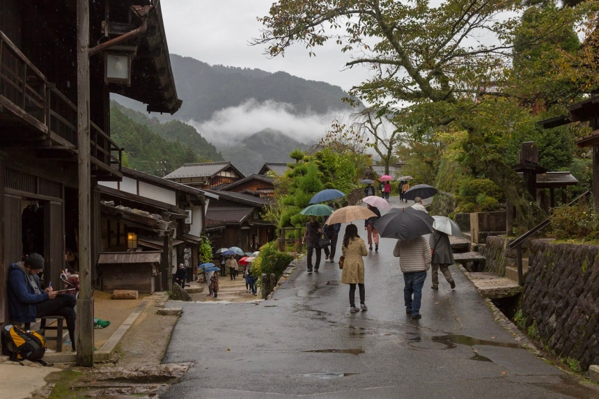 Tourists in Tsumago