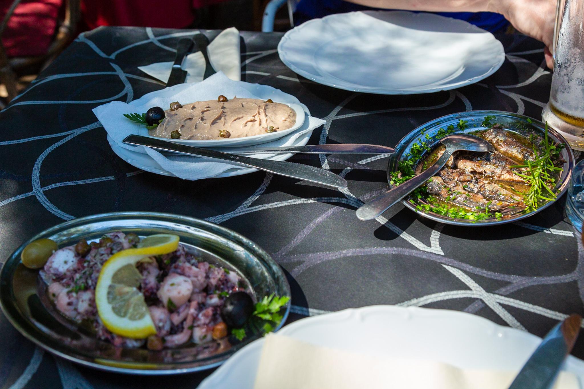 Cold appetizers at Konoba Stončica
