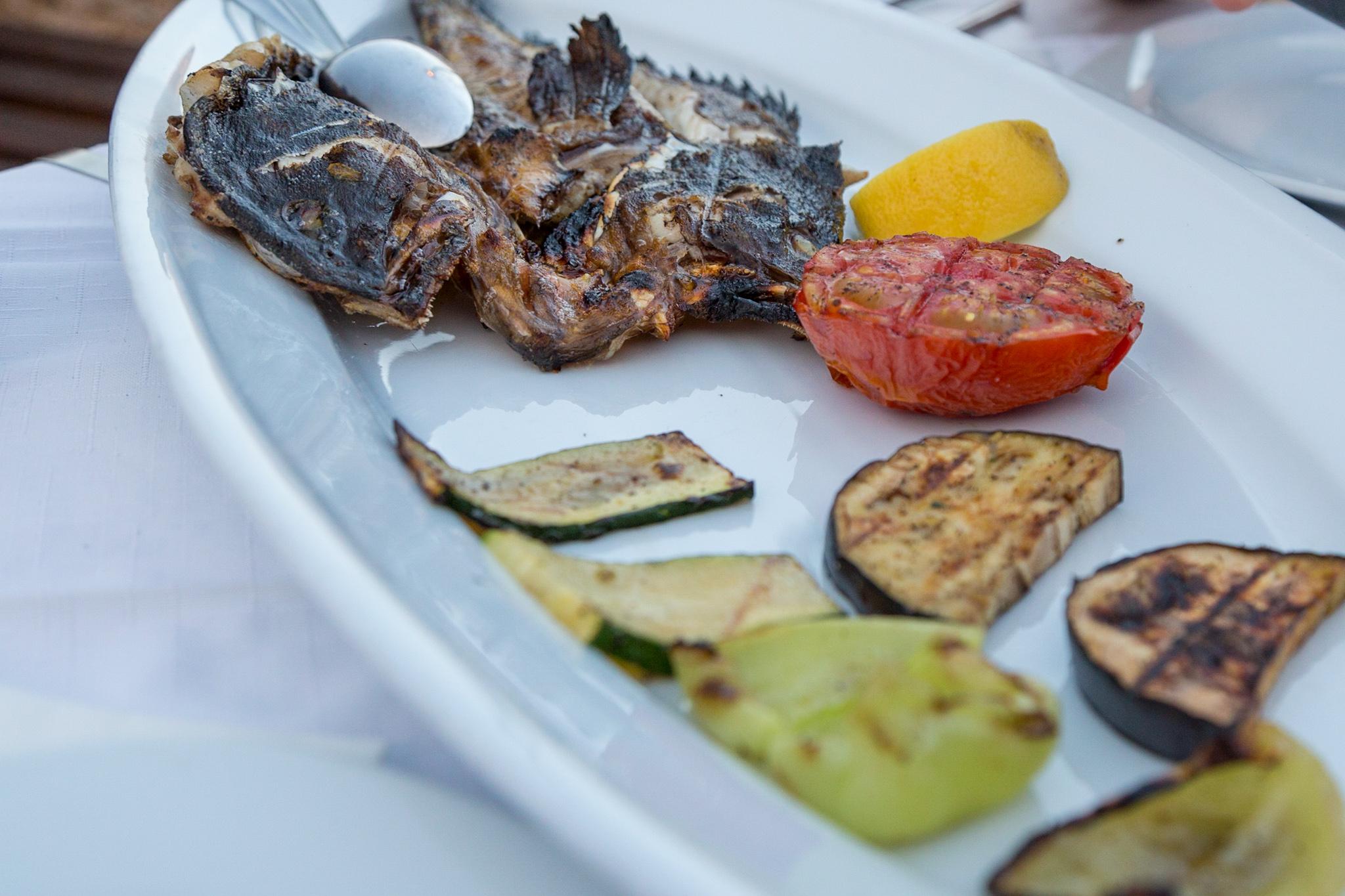 Grilled fish at Konoba Barba