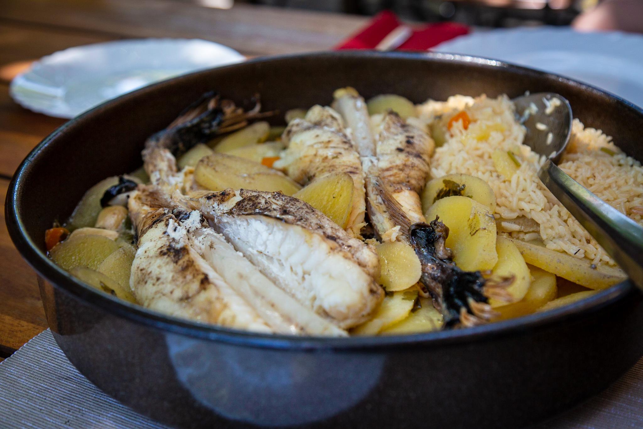Monkfish peka at Roki's